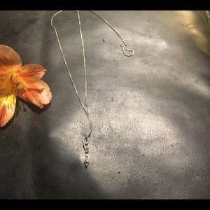 Art Deco Gold Diamond Petite Necklace